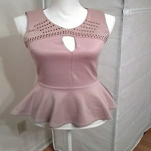 Charlotte Russe sleeveless top with studded design